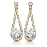 9ct Gold Allure CZ Earrings-MCE296