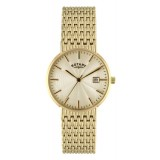 Rotary Gents Gold Tone Watch GB02808-03