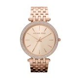 Ladies Michael Kors Darci Pave - Embellished Rose Gold Tone Watch MK3192