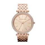 Ladies Michael Kors Darci Pave - Embellished Rose Gold Tone Watch MK3192