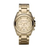 Michael Kors Golden Stainless Steel Blair Glitz Watch MK5166