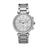 Ladies Michael Kors Parker Silver Tone Watch MK5353