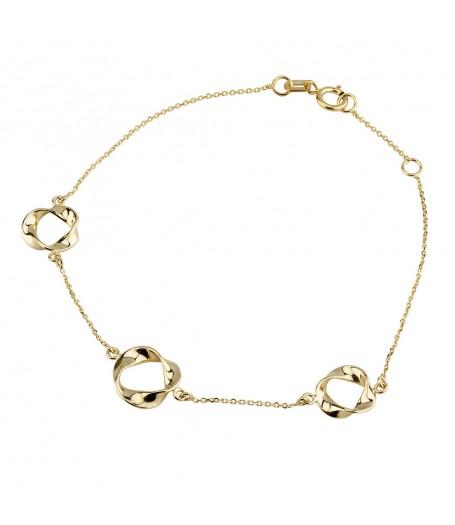 9ct Ribbon Circles Bracelet