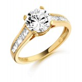9ct Gold Pristina CZ Ring-MC106