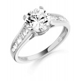 9ct Gold Pristina CZ Ring-MC106W