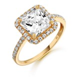 9ct Gold Princessesto CZ Ring-MC12