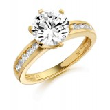 9ct Gold CZ Solitare Harmony Ring-MC130