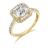 9ct Gold Ascher Cut CZ Ring-MC198