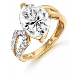 9ct Gold Congruent CZ Ring-MC281