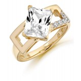 9ct Gold Ravine CZ Ring-MC287