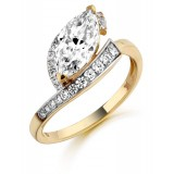 9ct Gold Sharuti CZ Ring-MC294