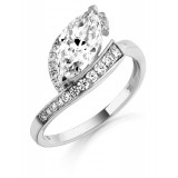 9ct Gold Sharuti CZ Ring-MC294W
