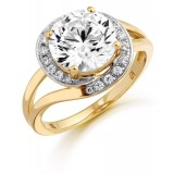 9ct Gold Orbit CZ Ring-MC295