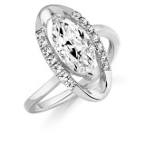 9ct Gold Vanity CZ Ring-MC297W
