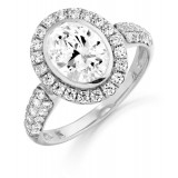 9ct Gold Ravina CZ Ring-MC298W