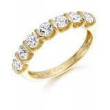 9ct Gold Tenure CZ Wedding Band-MC304