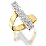 9ct Gold Egypsoo CZ Dress Ring-MC31