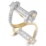 9ct Gold Torque CZ Ring-MC36