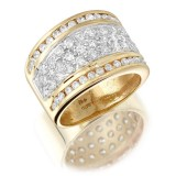 9ct Gold Cluster CZ Dress Ring-MC47