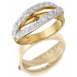 9ct Gold Embrace CZ Dress Ring-MC50