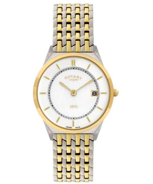 Rotary Ultra Slim Gents Two-tone Case Watch GB08001/02