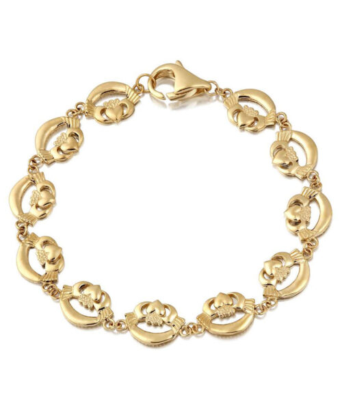 9ct Gold Claddagh Bracelet - CLB4