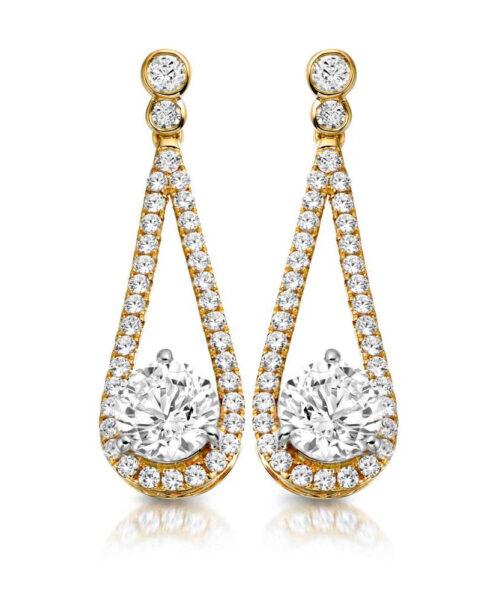 9ct Gold Allure CZ Earrings - MCE296