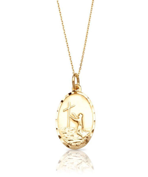 9ct Gold Divine Mercy Medal